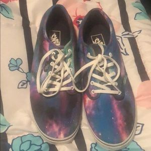 Vans galaxy print shoes